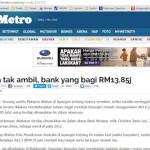 Bank Yang Bagi RM13.85 Juta Tu!