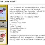 Tukar Kad Debit Maybank di Kiosk Je