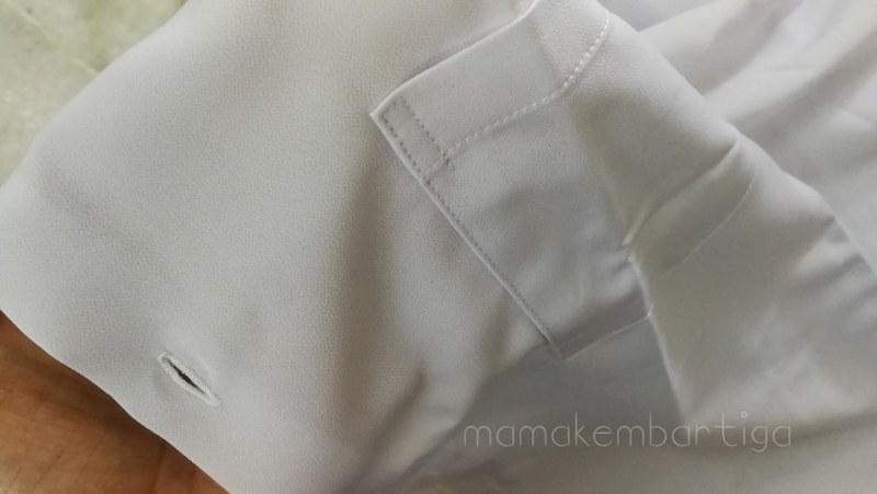 baju sekolah kain licin Matari uniform