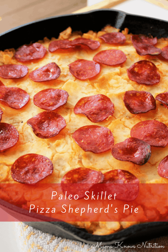 Paleo Skillet Pizza Shepherd's Pie | mamaknowsnutrition.com