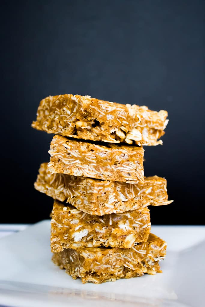 5 Ingredient No Bake Nut Butter Bars   mamaknowsnutrition.com