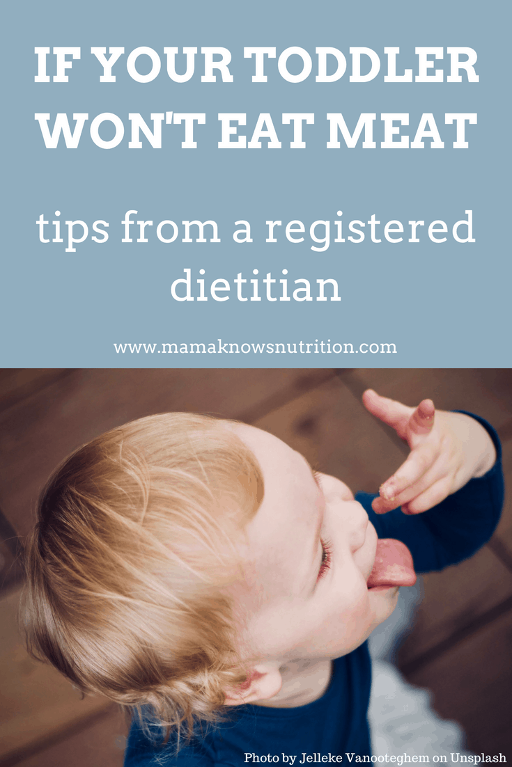 Toddler won't eat meat | mamaknowsnutrition.com