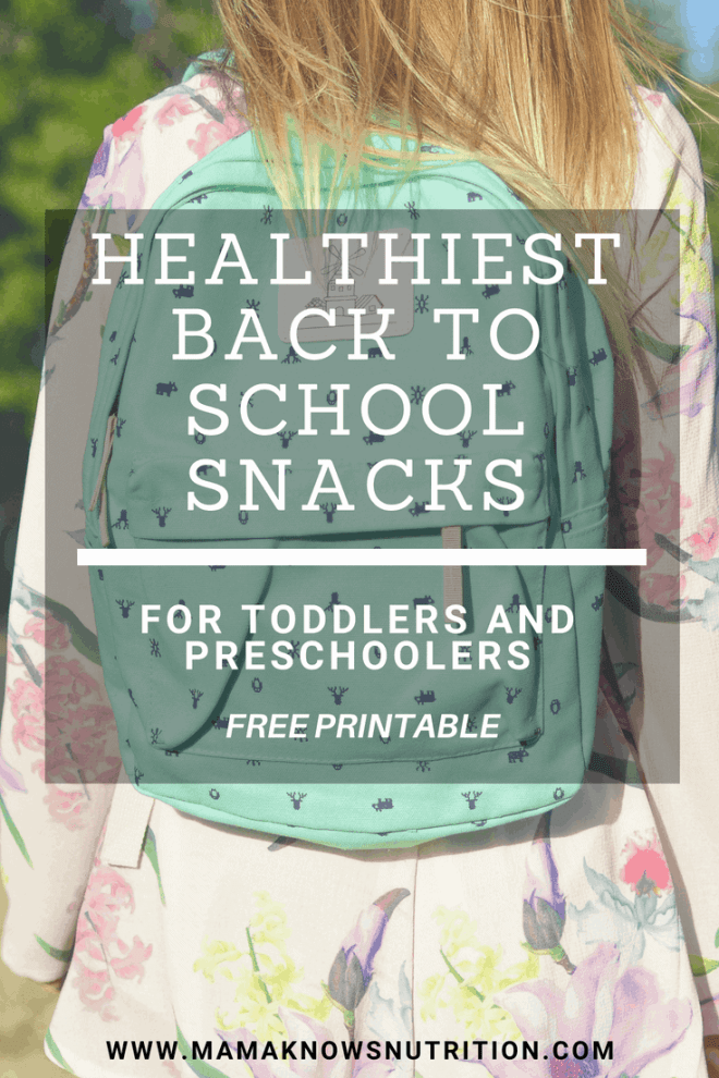 healthiest back to school snacks | mamaknowsnutrition.com