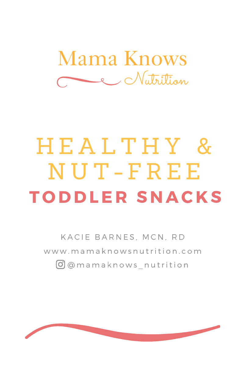 nutfree toddler snack guide