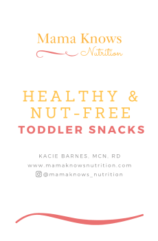 nutfree toddler snack guide