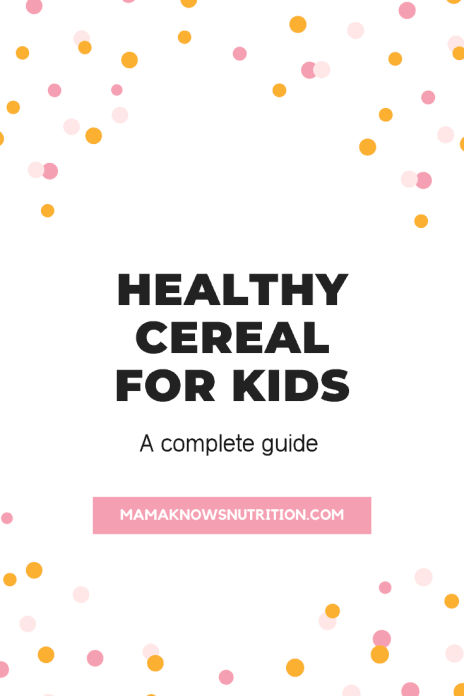 Healthy Cereal for Kids
