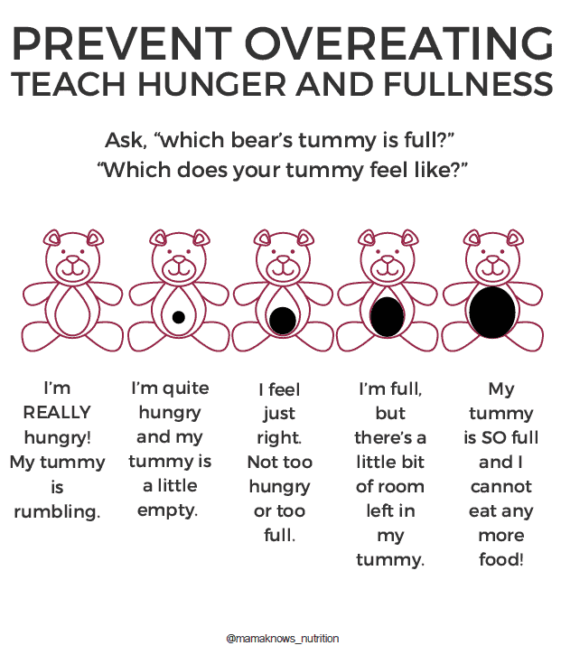 Is my toddler overweight? Teddy Hunger Chart