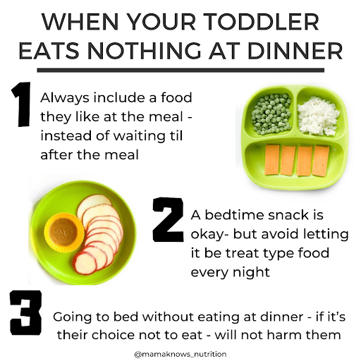 toddler won't eat at dinner