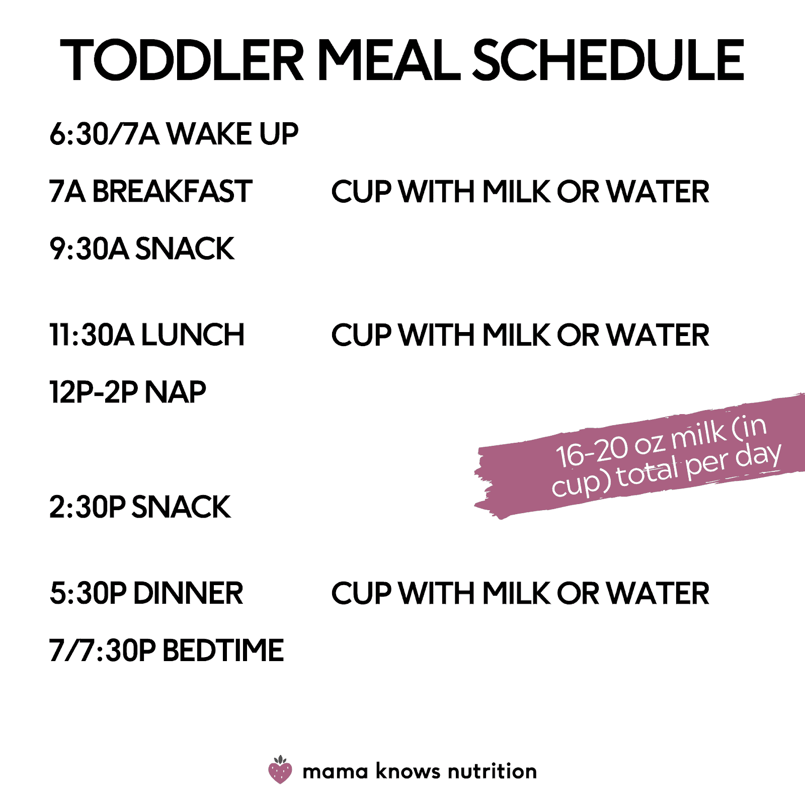 Toddler Meal Schedule