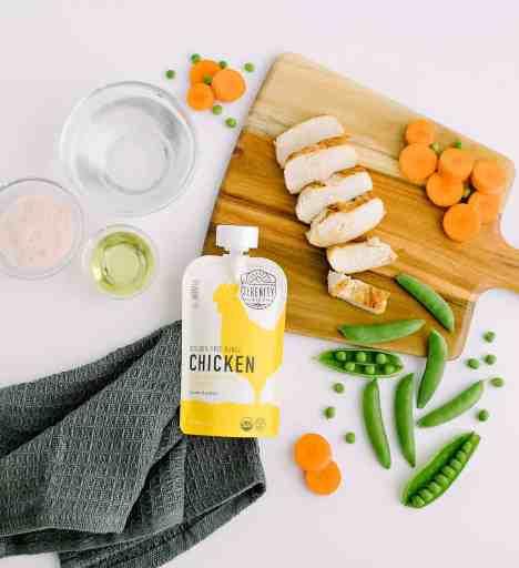 Healthy baby food pouch serenity kids chicken flavor