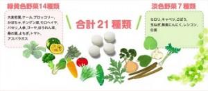 葉酸サプリ ベルタ 野菜