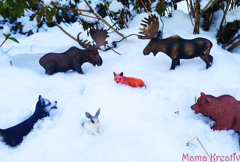 Spielen mir Winter mit Kindern draußen Ideen - Spiele mit Schnee