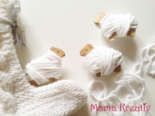 Wickelschafe Schafe aus Wolle basteln