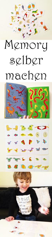 Dinosaurier Memory. Memory Spiel selber machen. DIY Memory Game