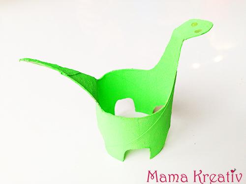 Basteln Mit Kindern Dinos Aus Klorollen Mama Kreativ