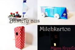 Basteln aus milchkarton, basteln aus müll, upcycling spielzeug, vogelhaus aus milchkarton, auto basteln, schiff basteln, haus basteln, milk carton crafts ideas