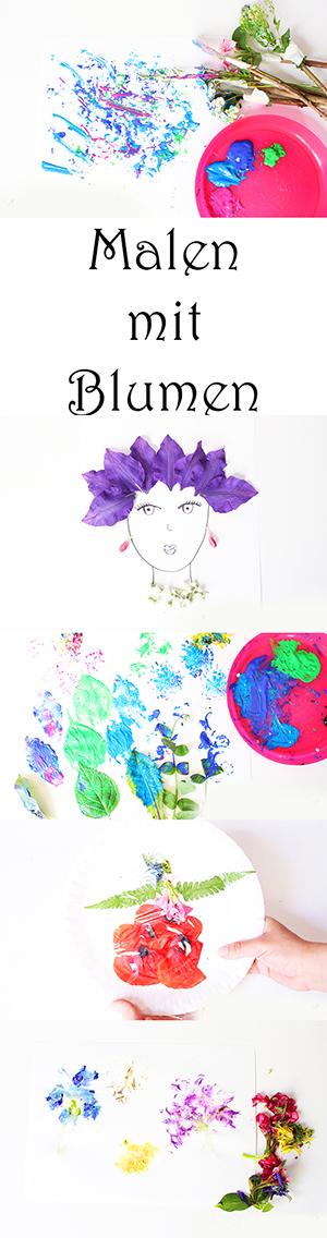 6 Ideen Zum Malen Mit Blumen Video Mama Kreativ