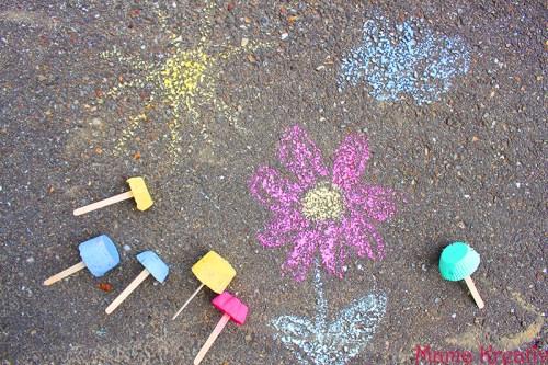 kreide malkreide selber machen herstellen mit gips diy einfach how to make sidewalk chalk