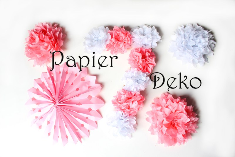 DIY Paper Flower Birthday Number Decoration Papier Deko Geburtstagsdeko aus Seidenpapier Geburtstag Dekoration Hochzeit Hochzeitsdeko Blumen Rosette Fächer selber machen
