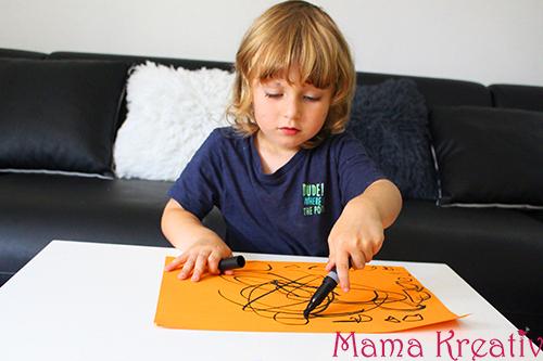 Malen nach Musik mit Kindern