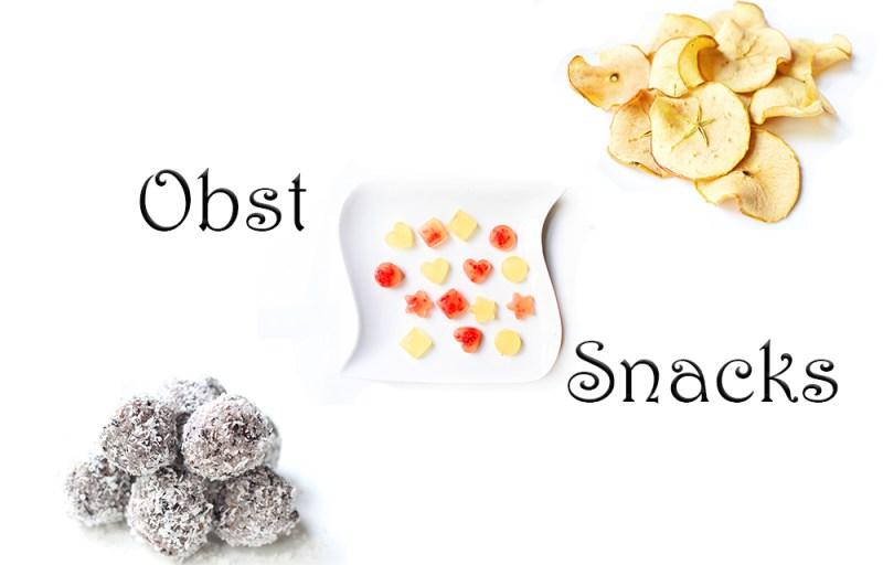 Gesunde Obst Snacks für kinder