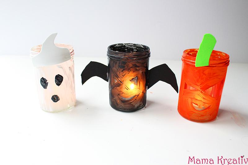 Halloween Windlichter selber machen