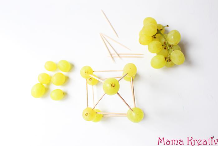 trauben und zahnstocher bauen und konstruieren für kinder baukasten selber machen