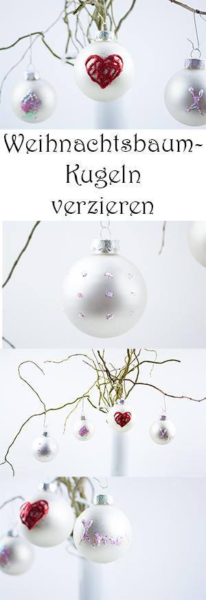 DIY Weihnachtbaumschmuck basteln - Weihnachtsbaumkugeln mit Kindern verzieren
