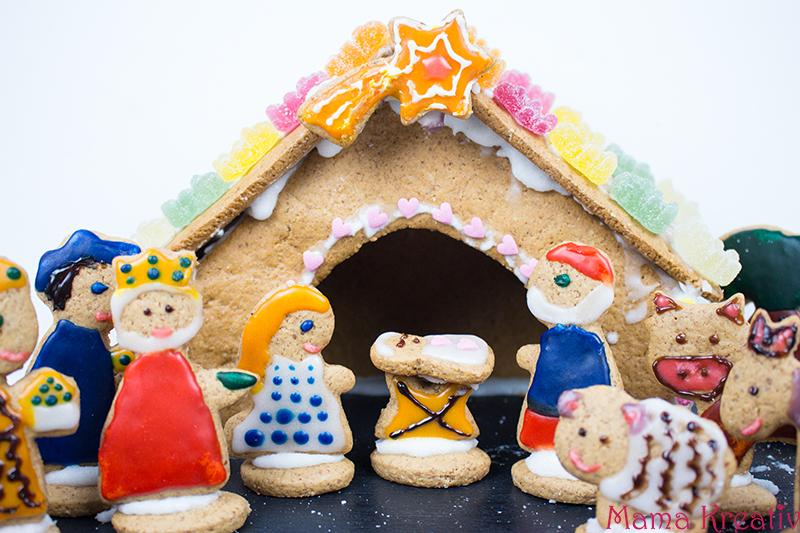 backen-mit-kindern-weihnachten-lebkuchenhaus-krippe-35