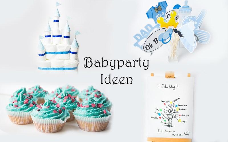 babyparty ideen deko essen spiele