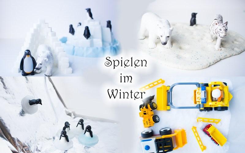 spielen im winter ideen mit schnee knete