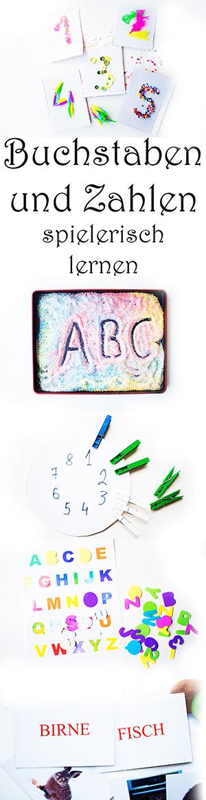 Buchstaben und Zahlen spielerisch lernen mit Kindern