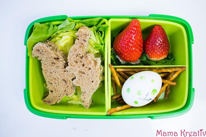 Dinosaurier Lunchbox Ideen für Kinder. Schulbrote für Jungs