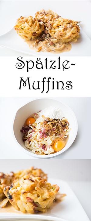 Pasta Rezept. Spätzle Muffins