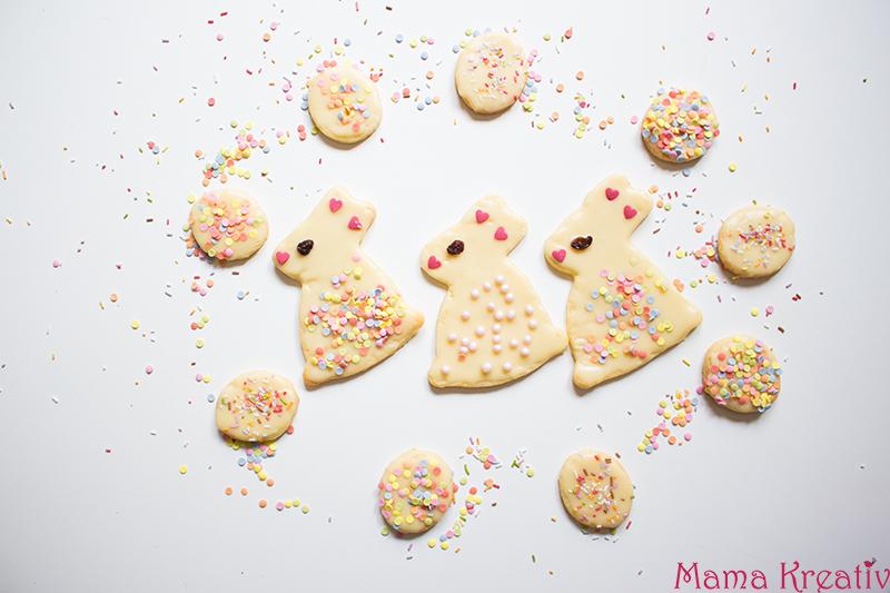Süße Osterhasen Kekse Plätzchen backen rezept schnell einfach (15)
