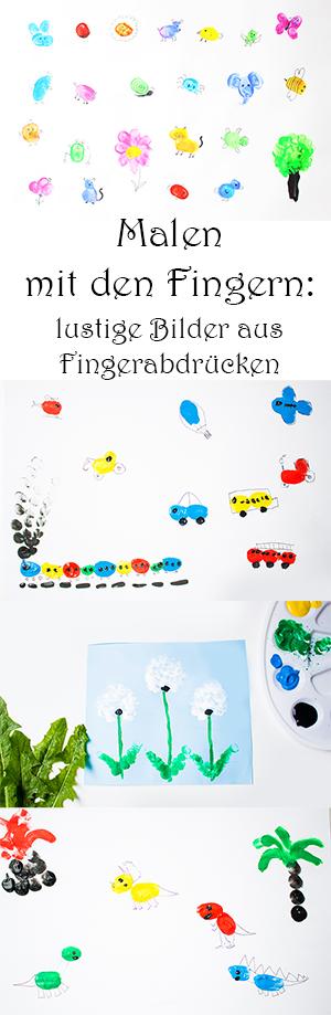 Malen Mit Den Fingern Lustige Bilder Aus Fingerabdrucken Uber 50