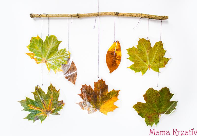 Basteln mit kindern im herbst 8 ideen mit for Herbst mobile basteln kindern