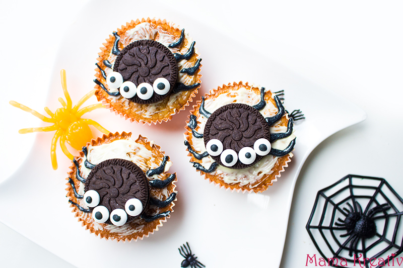 Halloween Party Rezepte Spinnen Muffins