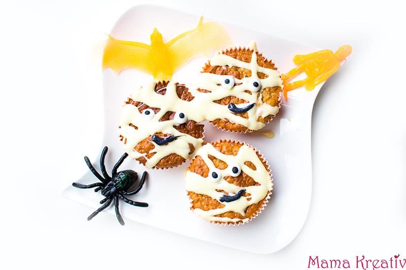 Halloween Party Rezepte Mumien Muffins