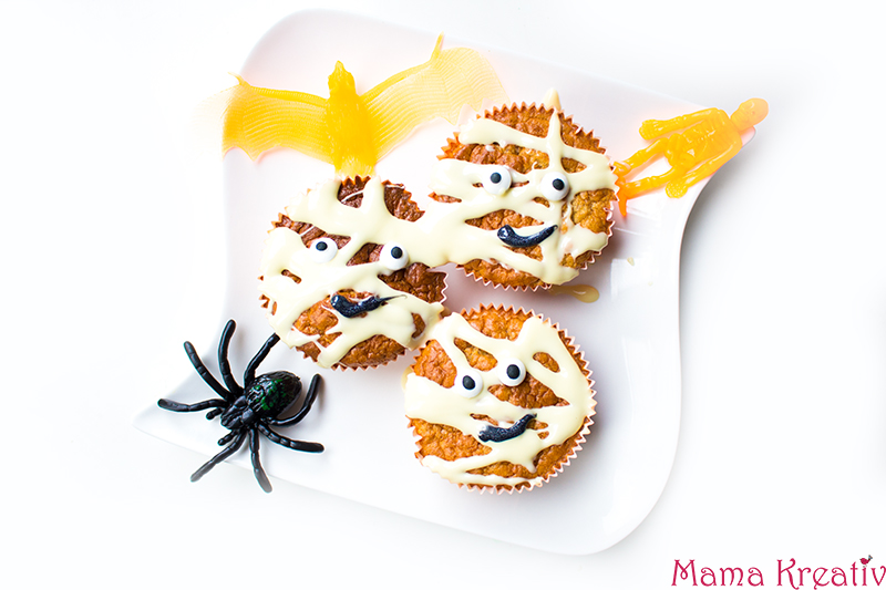 Halloween Party Rezepte Mumien Muffins