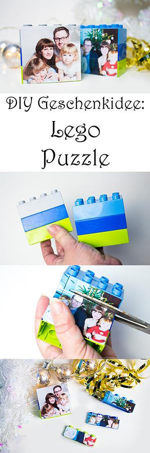 DIY Geschenkideen - Lego Puzzle selber machen