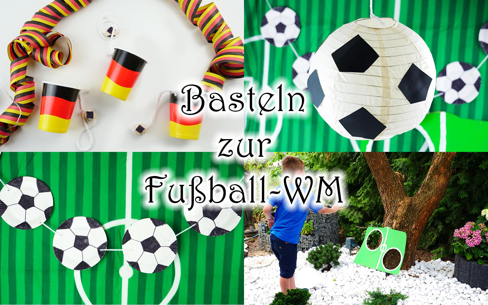basteln mit kindern zur fussball party wm und em diy fussball deko und spiele