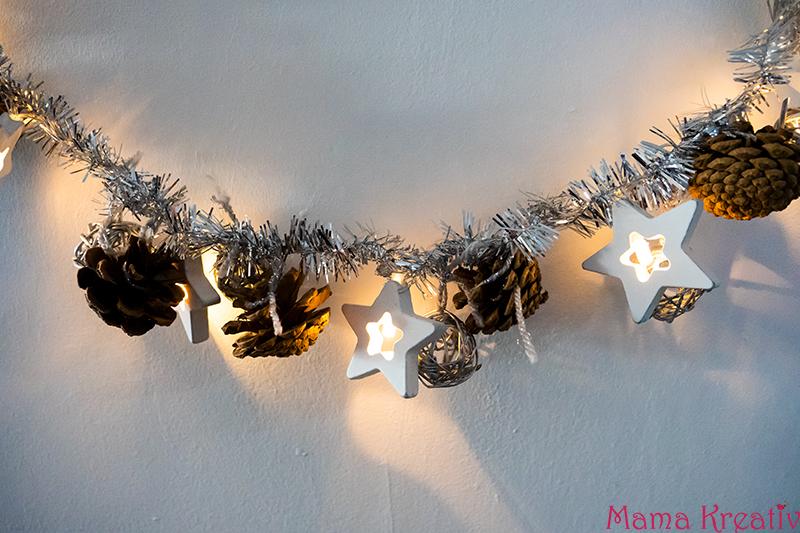 DIY Weihnachtsdeko mit Lichterketten basteln mit VARTA Batterien