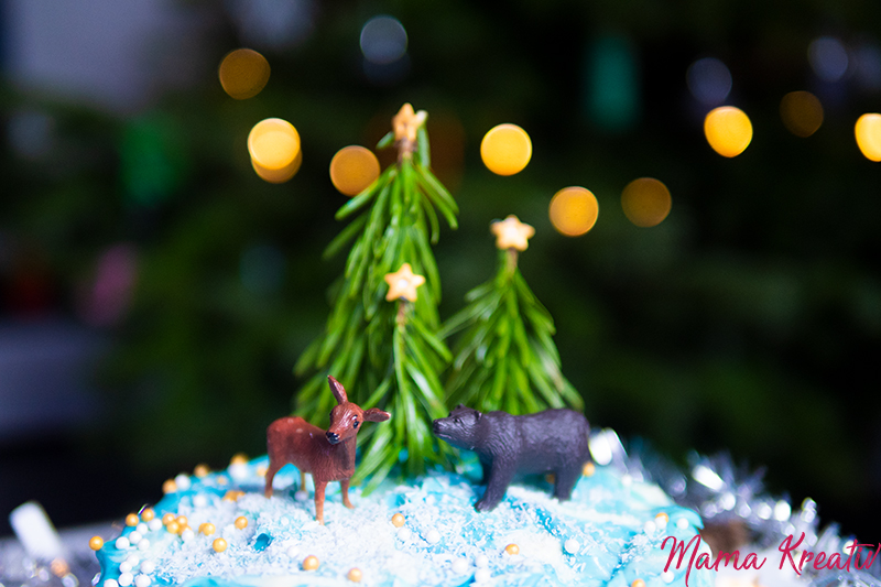 winterwunderland torte weihnachten silvester winter wunderland kuchen selber backen dekorieren rezept (20)