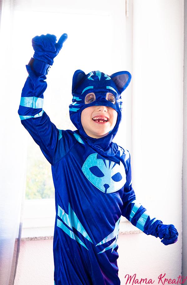 PJ Masken Catboy Kostüme Bastelideen Maskenherstellung Armbänder DIY Malen mit Handabdruck