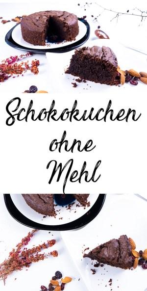 Schokokuchen ohne Mehl backen - einfaches Rezept Schokoladenkuchen