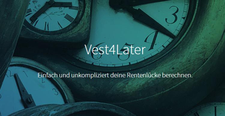 Altersvorsorge VisualVest Vest4Later Rente für Mütter
