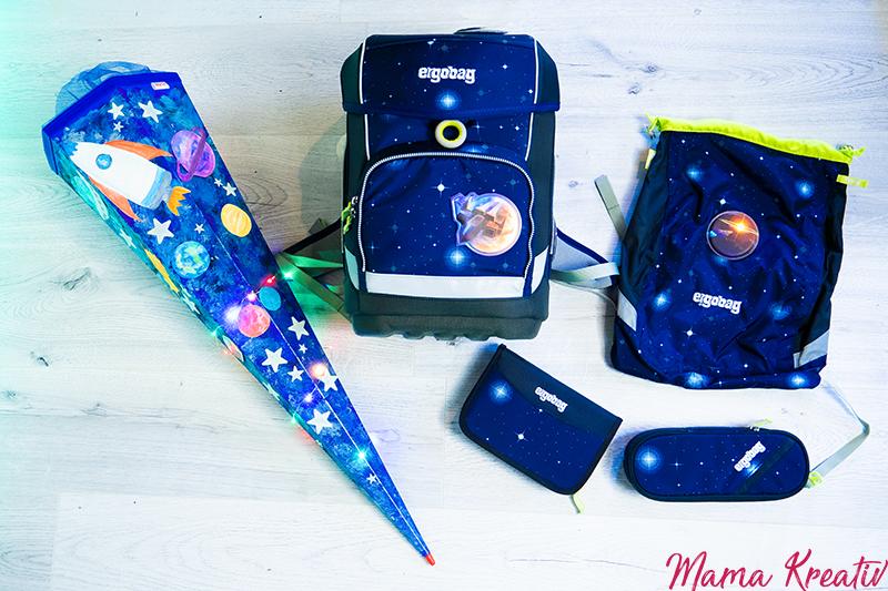 Schultasche für den Weltraum - Bastelraum - kostenlose Vorlagen für Ergobag Cubo Kobärnik