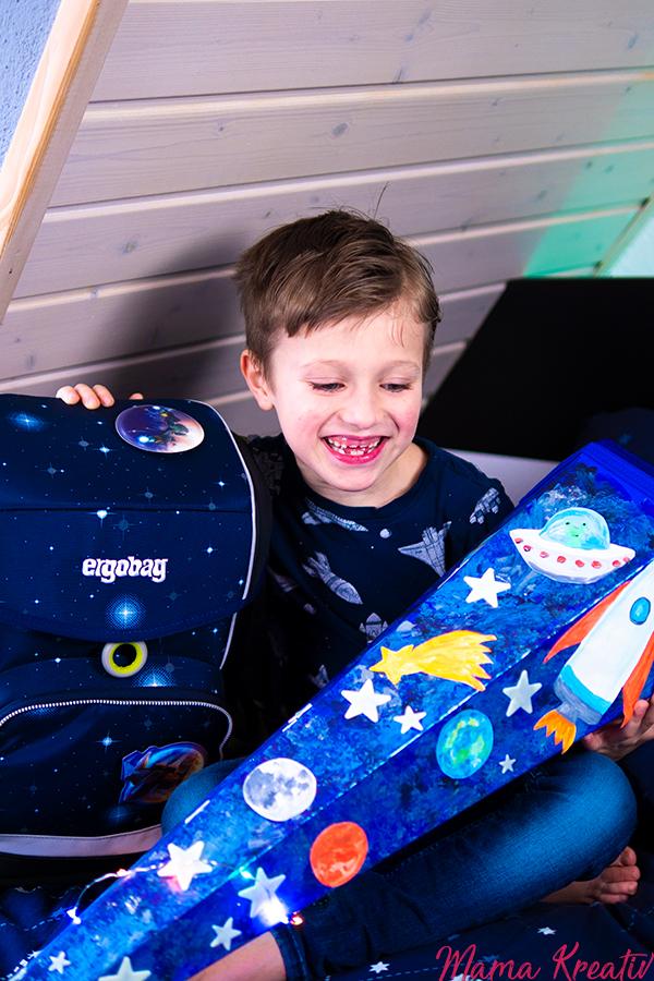 Weltraum Schultüte basteln Weltall kostenlose Vorlagen Ergobag Cubo Kobärnikus Glow Erfahrungen