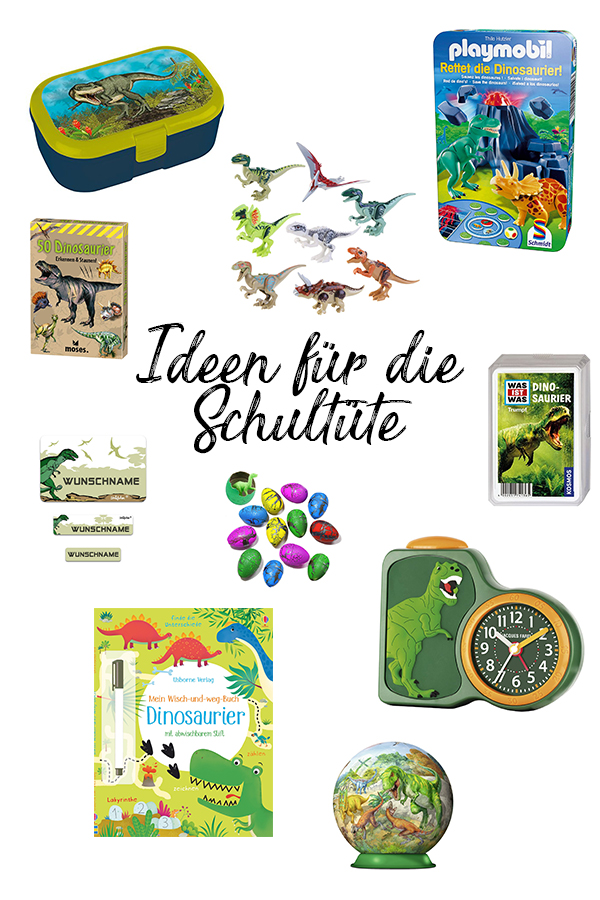 Schultüte füllen: über 200 Ideen für die Schultüte Junge Dínosaurier